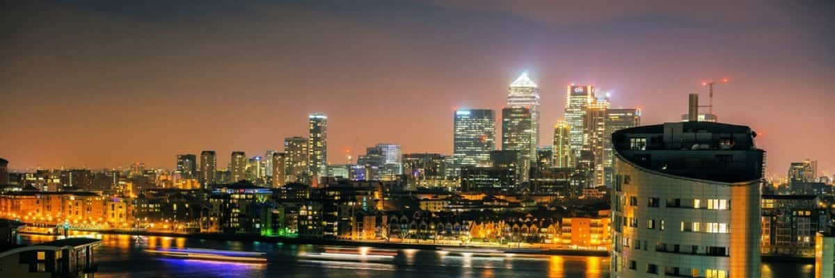 Isle of Dogs at night